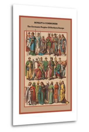 Royalty and Commoners the Germanic Peoples-Friedrich Hottenroth-Metal Print