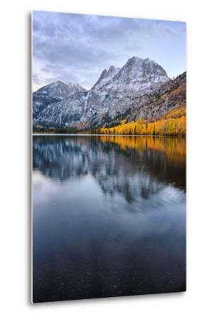 Silver Lake in Reflection in Autumn, Eastern Sierras, California-Vincent James-Metal Print