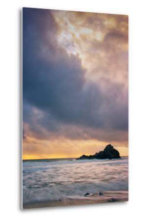 Stormy Sunset Skies at Big Sur, Pfieffer Beach, California Coast-Vincent James-Metal Print