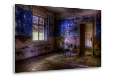 Abandoned Room Interior-Nathan Wright-Metal Print