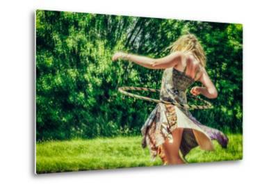 Female Youth Spinning Hoop-Stephen Arens-Metal Print