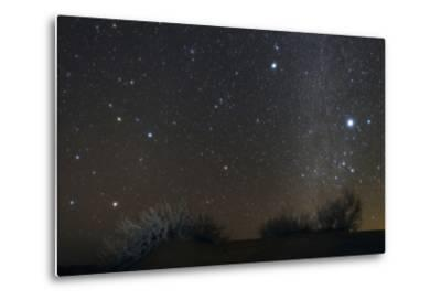 Constellations Leo and Hydra; the Milky Way; Saturn; Bright Stars Sirius and Procyon, over Desert-Babak Tafreshi-Metal Print