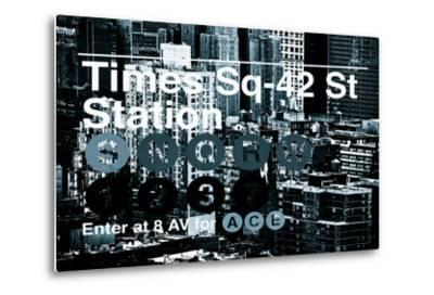 Subway and City Art - Times Square - 42 Street Station-Philippe Hugonnard-Metal Print