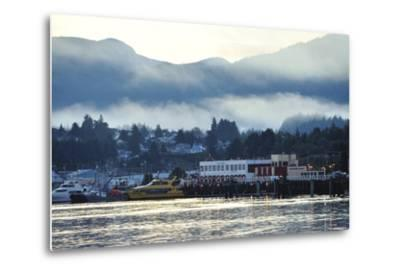 A Scenic View of Prince Rupert's Waterfront Community, at Sunrise-Jonathan Kingston-Metal Print