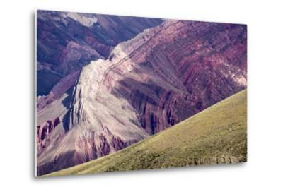Multi Coloured Mountains, Humahuaca, Province of Jujuy, Argentina-Peter Groenendijk-Metal Print