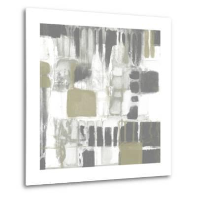 Neutral Quadrants I-Jennifer Goldberger-Metal Print