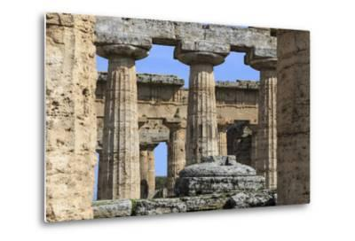 Temple of Hera (The Basilica) 530 Bc, Oldest Greek Temple at Paestum, Campania, Italy-Eleanor Scriven-Metal Print