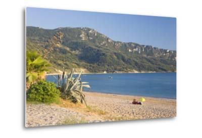 View across the Bay to Wooded Hillside-Ruth Tomlinson-Metal Print