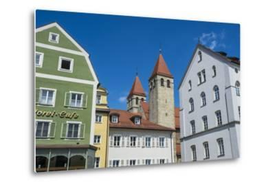 Medieval Patrician Houses and Towers in Regensburg, Bavaria, Germany-Michael Runkel-Metal Print
