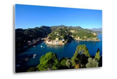 The Bay of Portofino Seen from Castello Brown, Genova (Genoa), Liguria, Italy, Europe-Carlo Morucchio-Metal Print