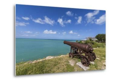 A Cannon Dating from the 17th Century, Fort James, Antigua, Leeward Islands, West Indies-Roberto Moiola-Metal Print