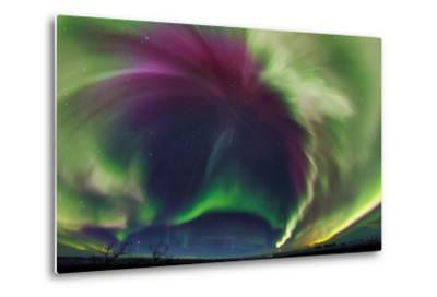 The Northrn Lights. Panoramic Projection of a Colorful Strong Aurora Outburst-Babak Tafreshi-Metal Print