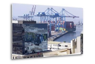 Aerial View of Harbour, Valparaiso, Chile-Peter Groenendijk-Metal Print