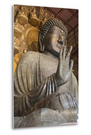 Daibutsu (Great Buddha) (Vairocana) Inside the Daibutsu-Den Hall of the Buddhist Temple of Todai-Ji-Stuart Black-Metal Print
