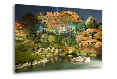 Night Illuminations of Temple Gardens, Shoren-In Temple, Southern Higashiyama, Kyoto, Japan-Stuart Black-Metal Print