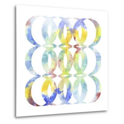 Metric Watercolors I-Jennifer Goldberger-Metal Print