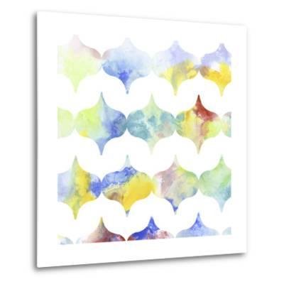 Metric Watercolors II-Jennifer Goldberger-Metal Print