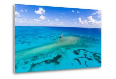 Aerial View of Diving and Snorkeling Boats-Mike Theiss-Metal Print