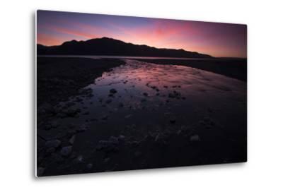 Sunrise Above Lake Hawea and Mount Melina-Michael Melford-Metal Print