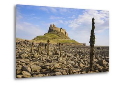 Lindisfarne Castle, Holy Island, Northumberland, England, United Kingdom, Europe-Gary Cook-Metal Print