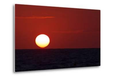 The Sun Sinks into the Atlantic Ocean, Off the Coast of Normandy, France-Babak Tafreshi-Metal Print