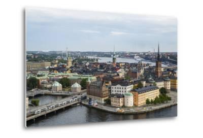 Skyline View over Gamla Stan, Riddarholmen and Riddarfjarden, Stockholm, Sweden-Yadid Levy-Metal Print
