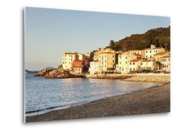 Marciana Marina at Sunset, Island of Elba, Livorno Province, Tuscany, Italy-Markus Lange-Metal Print