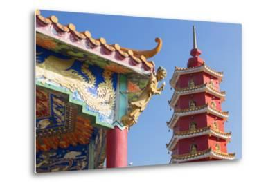 Pagoda at Ten Thousand Buddhas Monastery, Shatin, New Territories, Hong Kong, China, Asia-Ian Trower-Metal Print