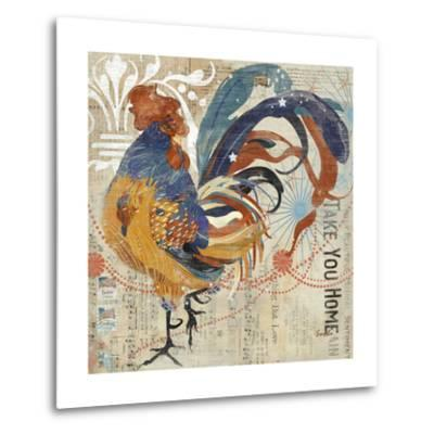 Rooster Flair IV-Evelia Designs-Metal Print