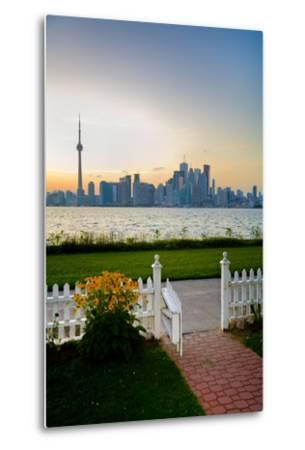 The Skyline of Toronto at Sunset from Front Yard of Home on Centre Island-Tim Thompson-Metal Print