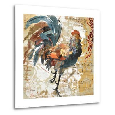 Rooster Flair I-Evelia Designs-Metal Print