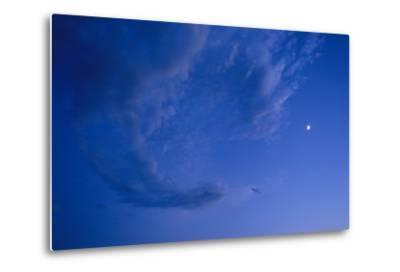 Full Frame of a Waxing Moon in the Bright Blue Sky-Michael Forsberg-Metal Print