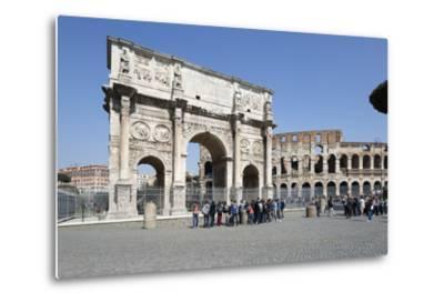 Arch of Constantine (Arco Di Costantino) and the Colosseum, Rome, Lazio, Italy-Stuart Black-Metal Print