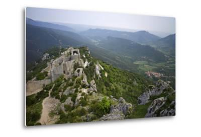 Peyrepertuse Cathar Castle, French Pyrenees, France-Rob Cousins-Metal Print
