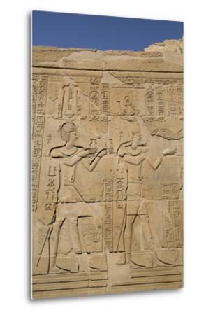Bas-Reliefs on Walls, Temple of Haroeris and Sobek, Kom Ombo, Egypt, North Africa, Africa-Richard Maschmeyer-Metal Print