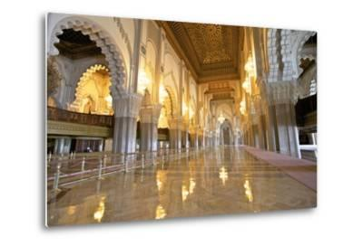 Interior of Hassan Ll Mosque, Casablanca, Morocco, North Africa, Africa-Neil Farrin-Metal Print