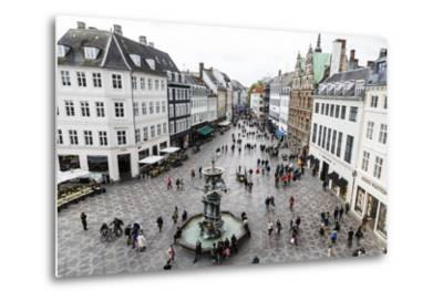 Stroget, the Main Pedestrian Shopping Street, Copenhagen, Denmark, Scandinavia, Europe-Yadid Levy-Metal Print