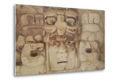 Stone Mask of Mayan Sun God Kinichna-Richard Maschmeyer-Metal Print