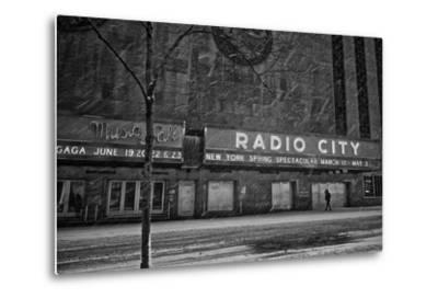Winter Storm Juno Arrives in New York City-Kike Calvo-Metal Print