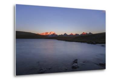 Sunset on Rossett Lake at an Altitude of 2709 Meters. Gran Paradiso National Park-Roberto Moiola-Metal Print