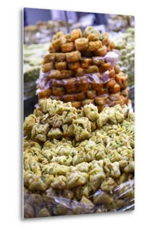 Baklava, an Arab Sweet Pastry at a Shop in the Old City, Jerusalem, Israel, Middle East-Yadid Levy-Metal Print