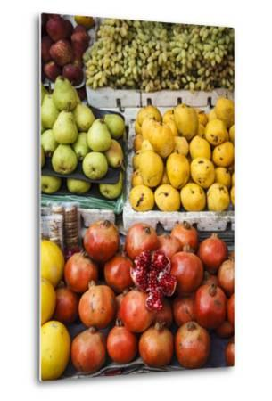 Detail of Fruits at Mapusa Market, Goa, India, Asia-Yadid Levy-Metal Print