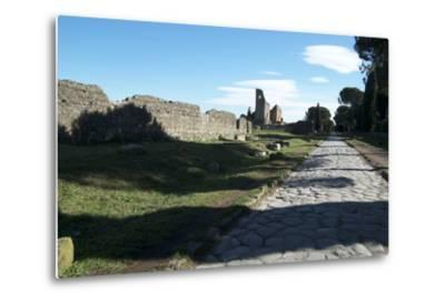The Queen of Roads of the Old Roman Road System Was the Appian Way-Oliviero Olivieri-Metal Print