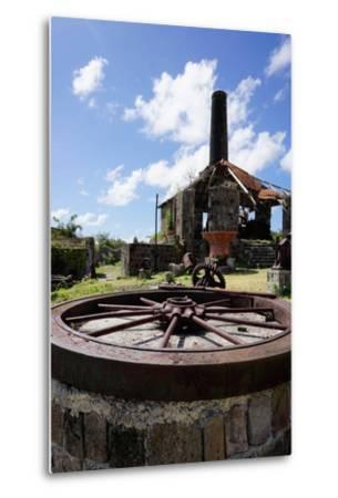 Derelict Old Sugar Mill, Nevis, St. Kitts and Nevis-Robert Harding-Metal Print