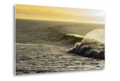 A Wave Breaks on a Lava Reef in South Africa's Jeffreys Bay-Luis Lamar-Metal Print