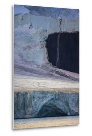 A Glaciated Landscape of Franz Josef Land from a Passing Ship-Cory Richards-Metal Print
