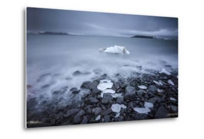 Sea Ice Off Hooker Island-Cory Richards-Metal Print