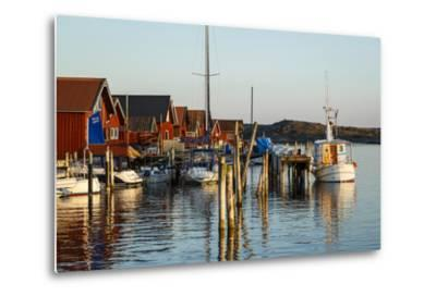 Boats and Timber Houses, Grebbestad, Bohuslan Region, West Coast, Sweden, Scandinavia, Europe-Yadid Levy-Metal Print