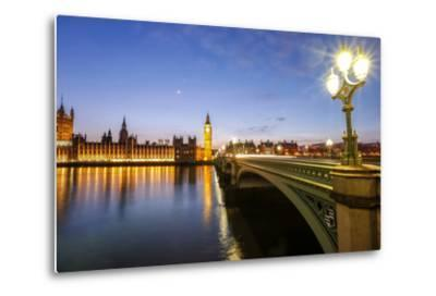 View of Big Ben and Palace of Westminster-Roberto Moiola-Metal Print