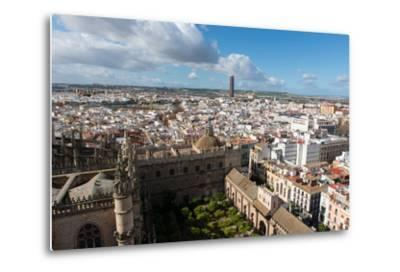 View of Seville from Giralda Bell Tower, Seville, Andalucia, Spain-Carlo Morucchio-Metal Print